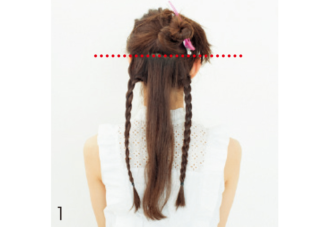 意外とカンタン! カチューシャ風三つ編みで今っぽヘアアレ_1_3-1