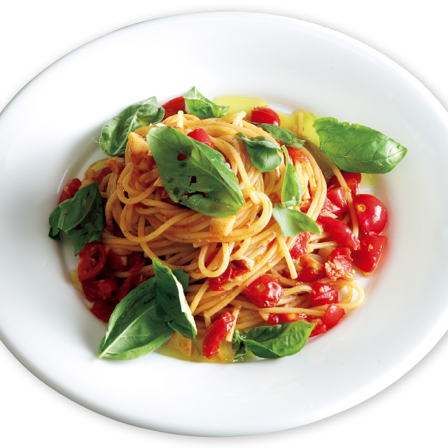 トマトとにんにくのパスタレシピ 有元葉子レシピ