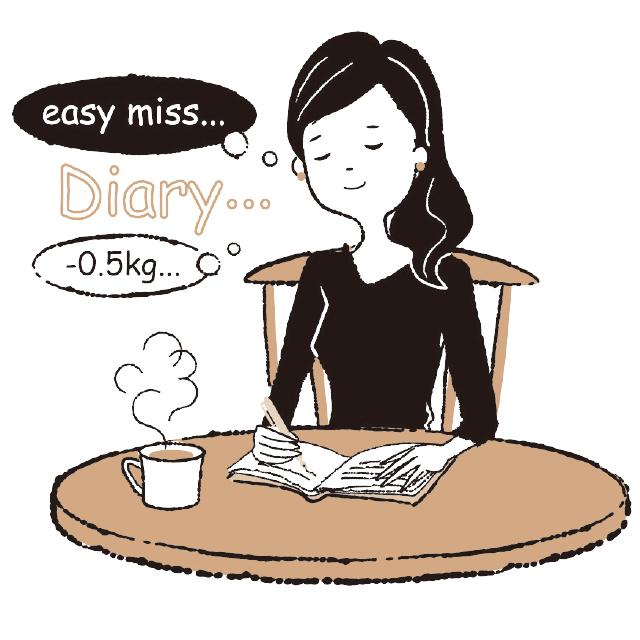一日の終わりに振り返り日記をつける