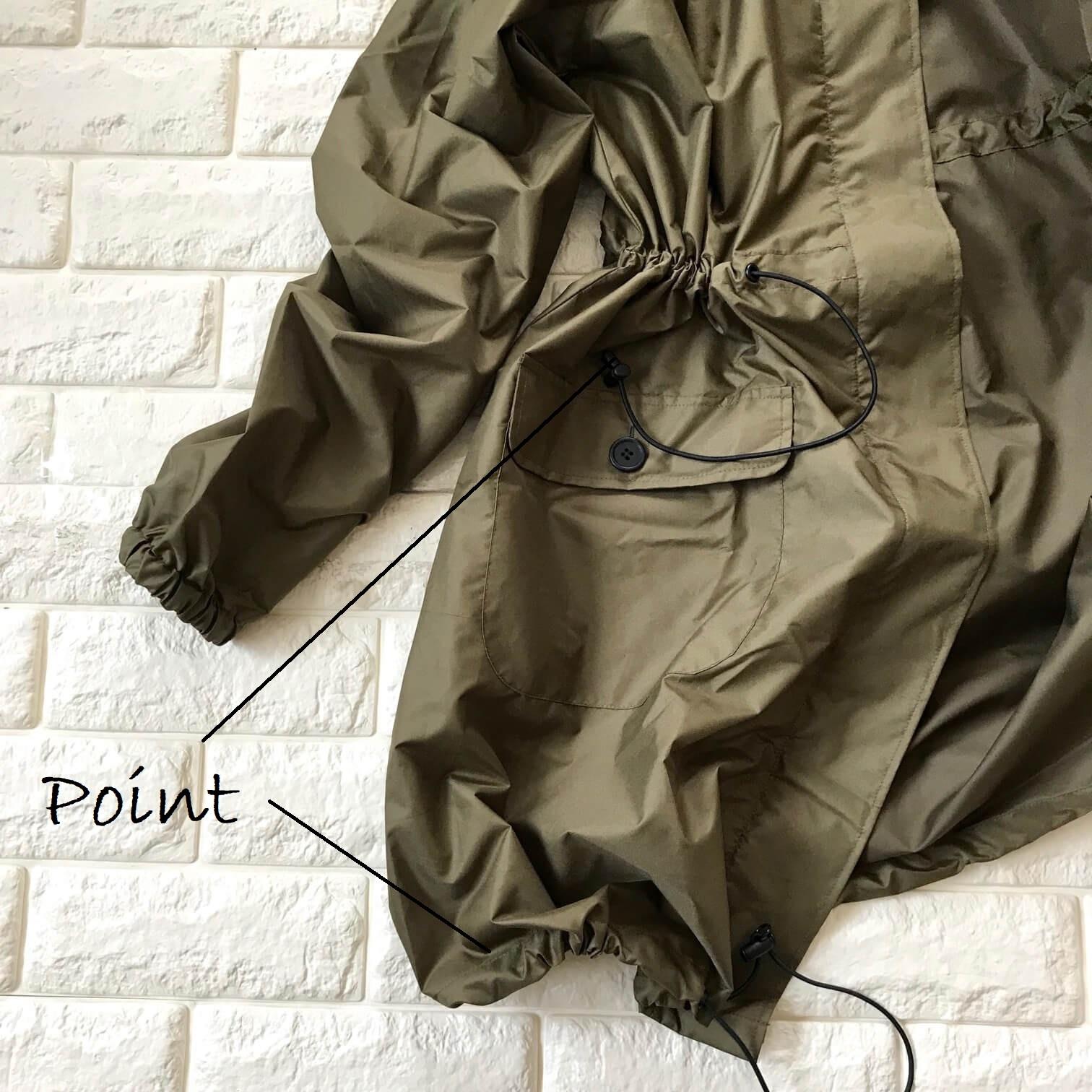 ビーミングbyビームスのレインコート裾画像