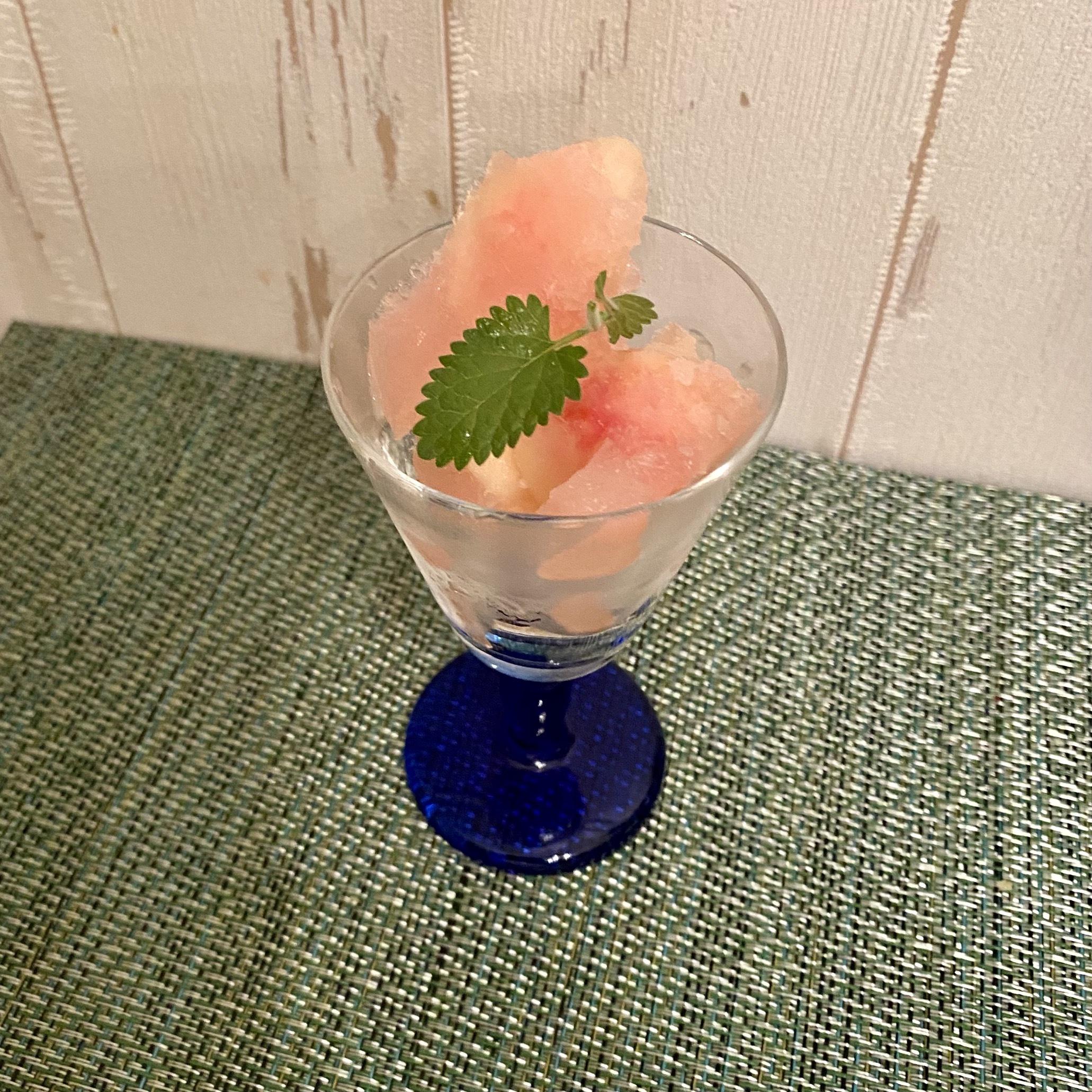 桃のシャーベット