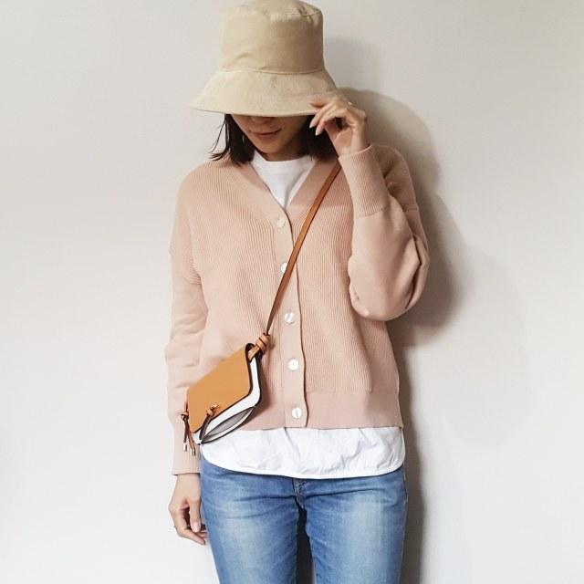 冬→春をつなぐ、ニュアンスピンクのカーディガンで着まわしコーデ♪_1_6