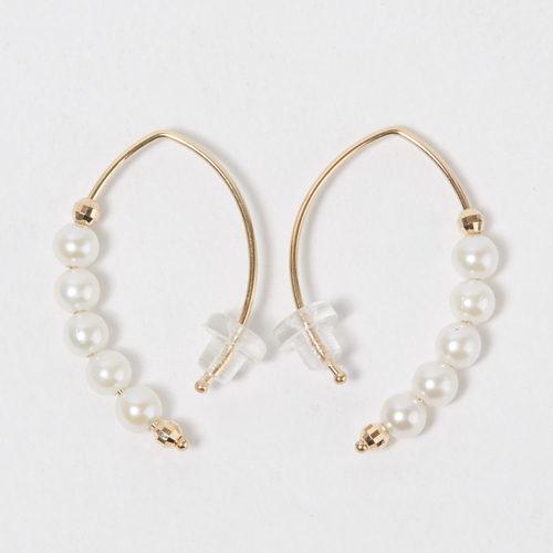 MIZUKI Baby Marquis with Pearl Earrings