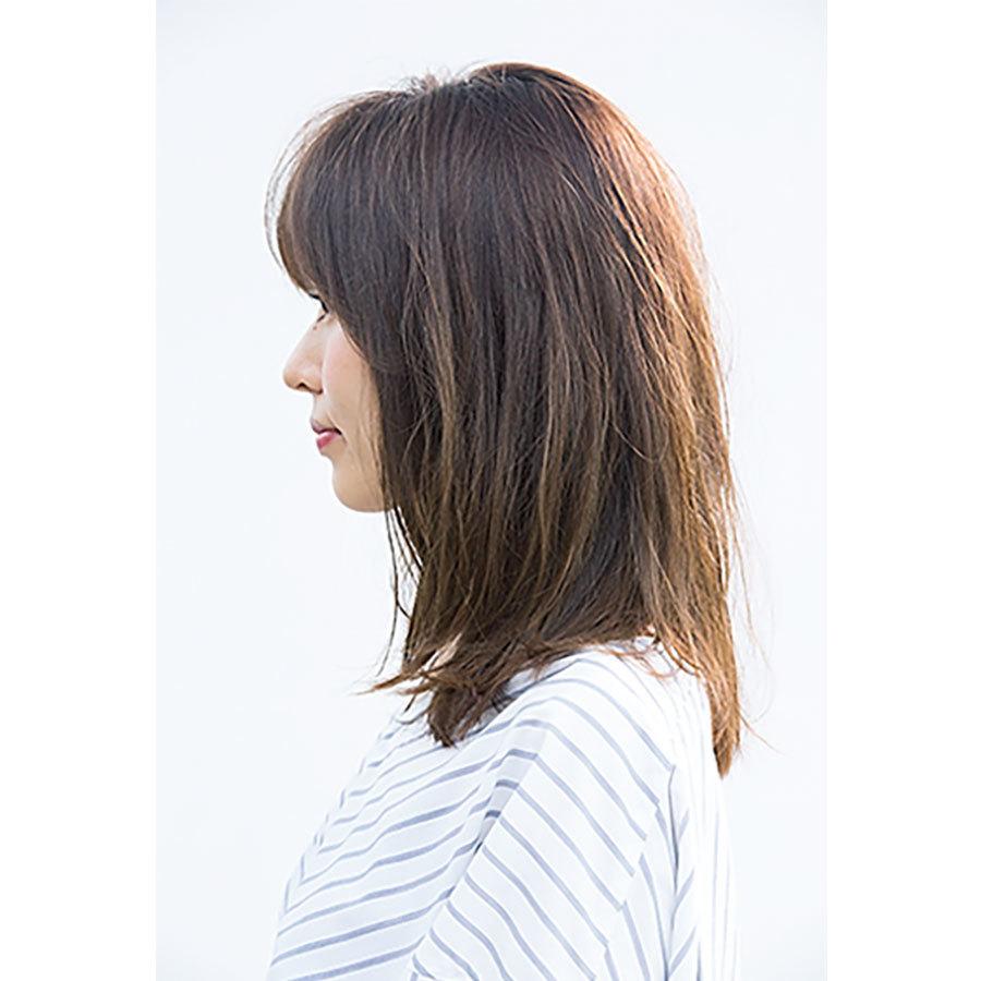 横から見た 人気ミディアムヘアスタイル1位の髪型