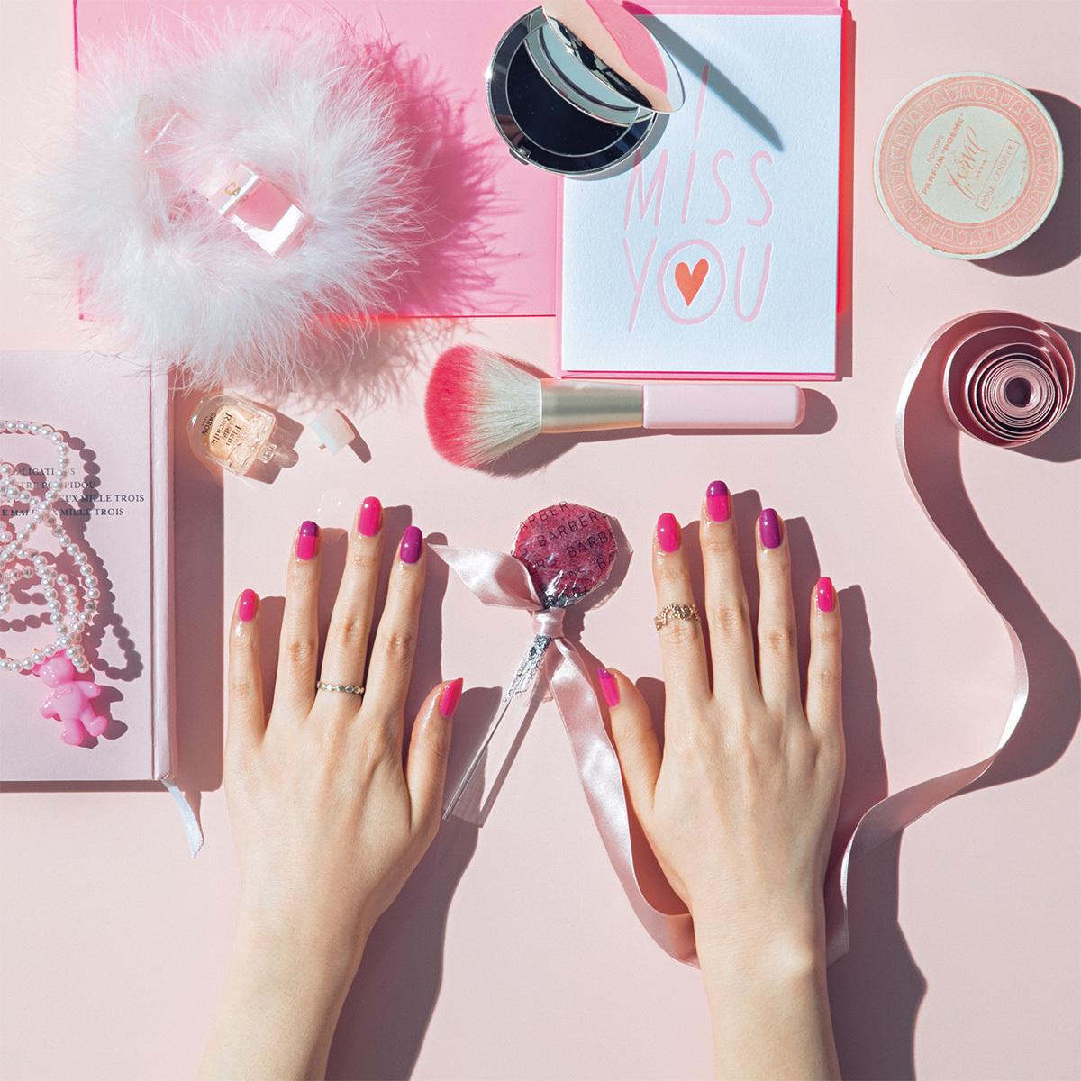 大人のスイートネイル 春色ピンクはベリーカラーで引き締め_1_1
