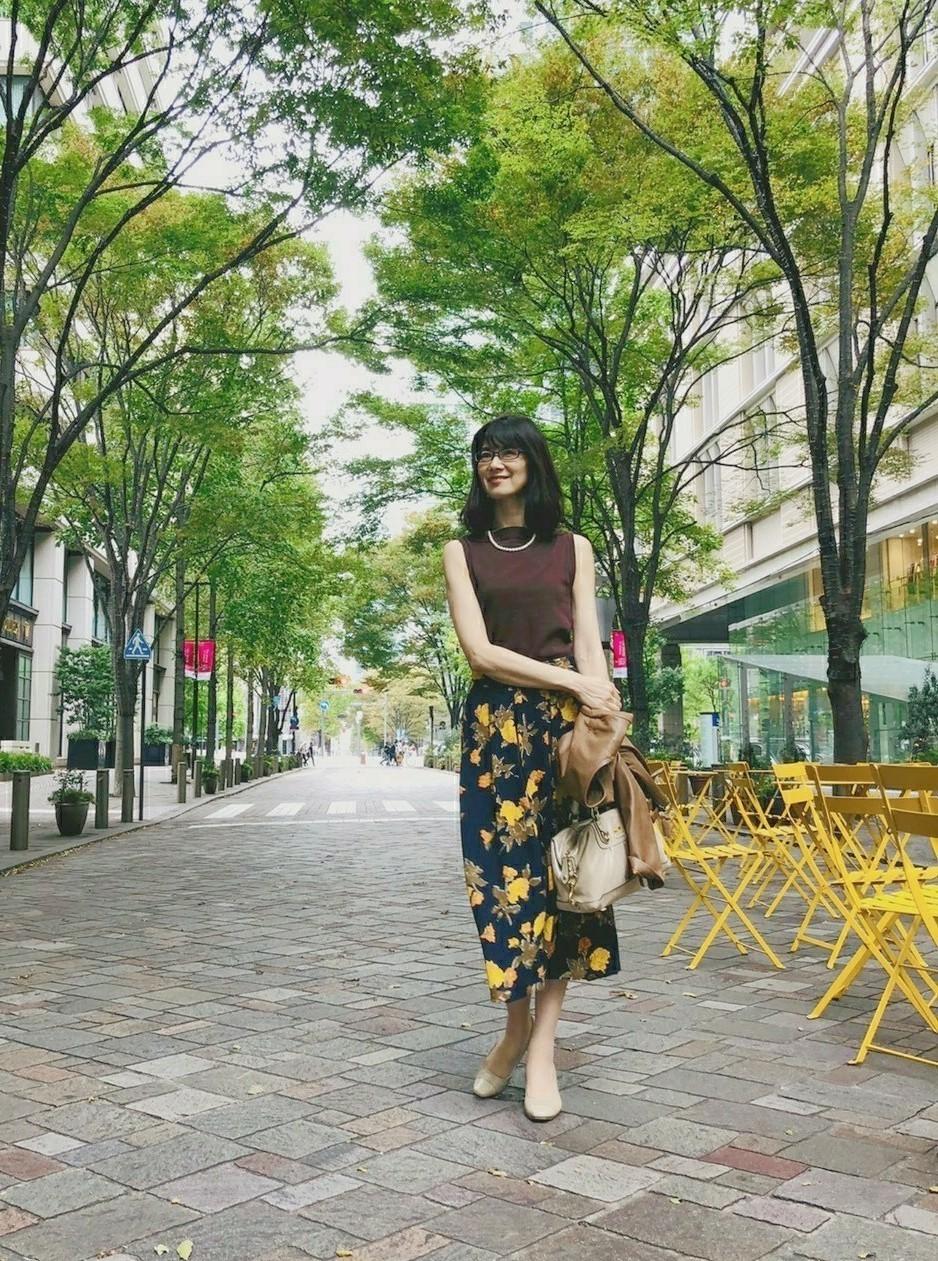 華がある花柄スカート_1_3