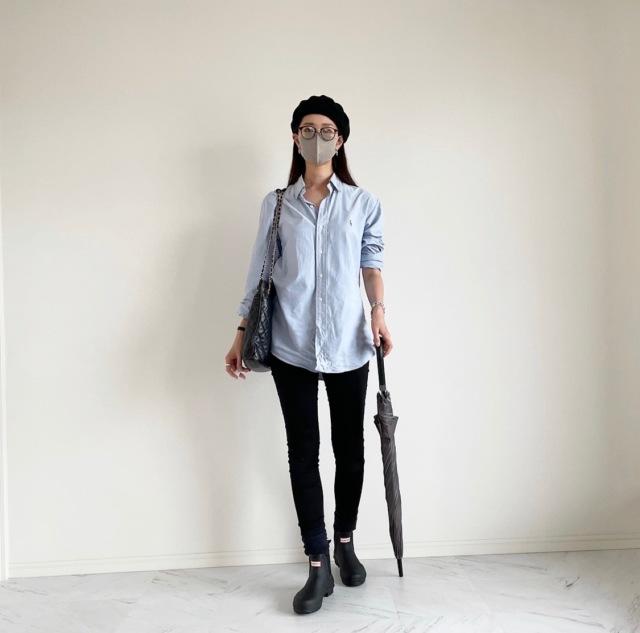 終日雨の日の楽ちんシャツコーデ :OOTD【40代 私のクローゼット】_1_1