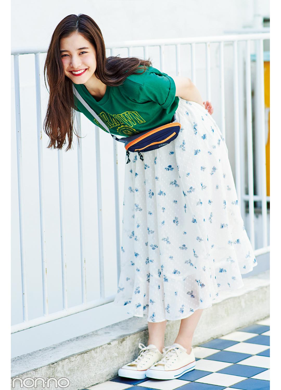 新木優子のカレッジTシャツ着回し★夏にぴったりの楽しげコーデBEST3!_1_3-2