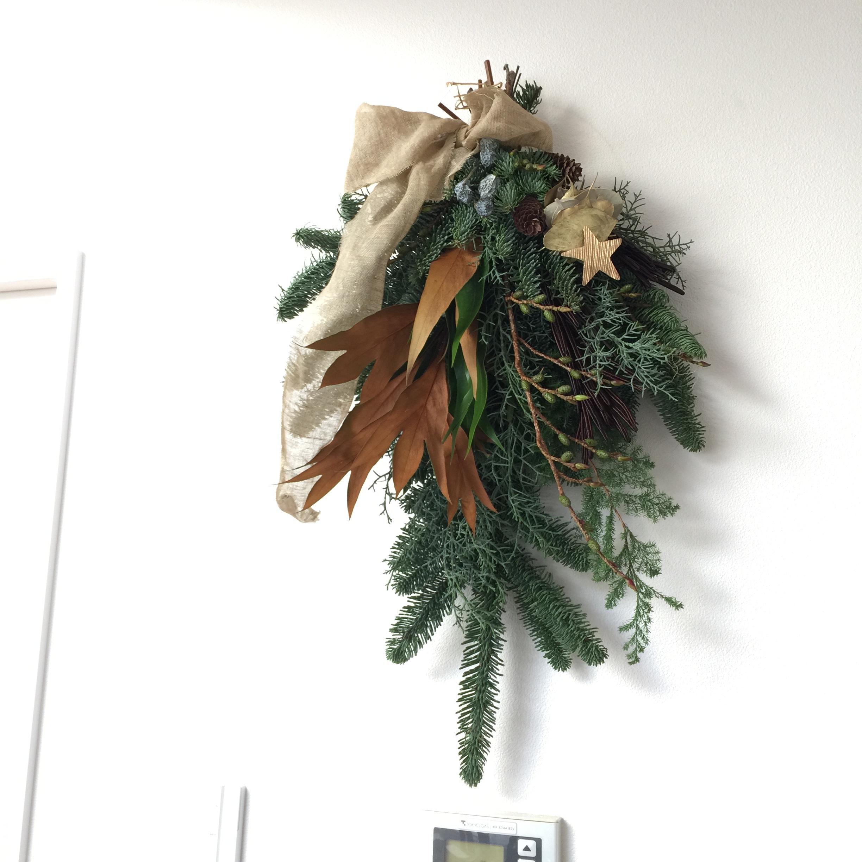 12月!我が家のクリスマスはスワッグから。_1_1