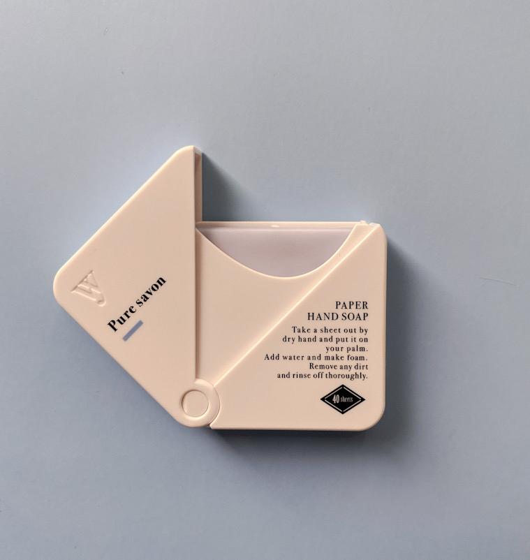 携帯に便利なおしゃれ紙せっけん「WASHNY paper handsoap」