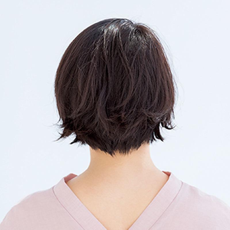 ワンレン風なのにクールすぎない新生かき上げショート【40代のショートヘア】_1_1-3