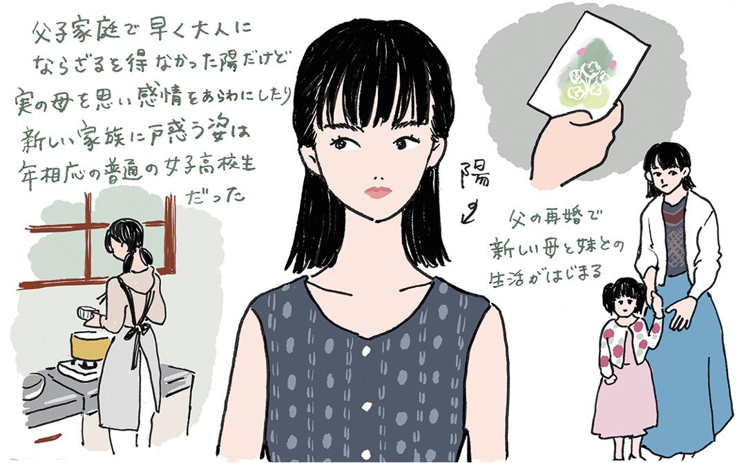 映画『かそけきサンカヨウ』イラスト