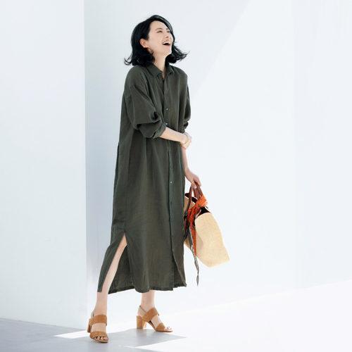 池田奈加子×Finamore シャツドレス ¥39,000+税