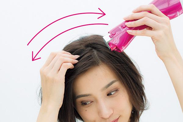 パックリ前髪のためのスタイリングテクニック_1_2-2