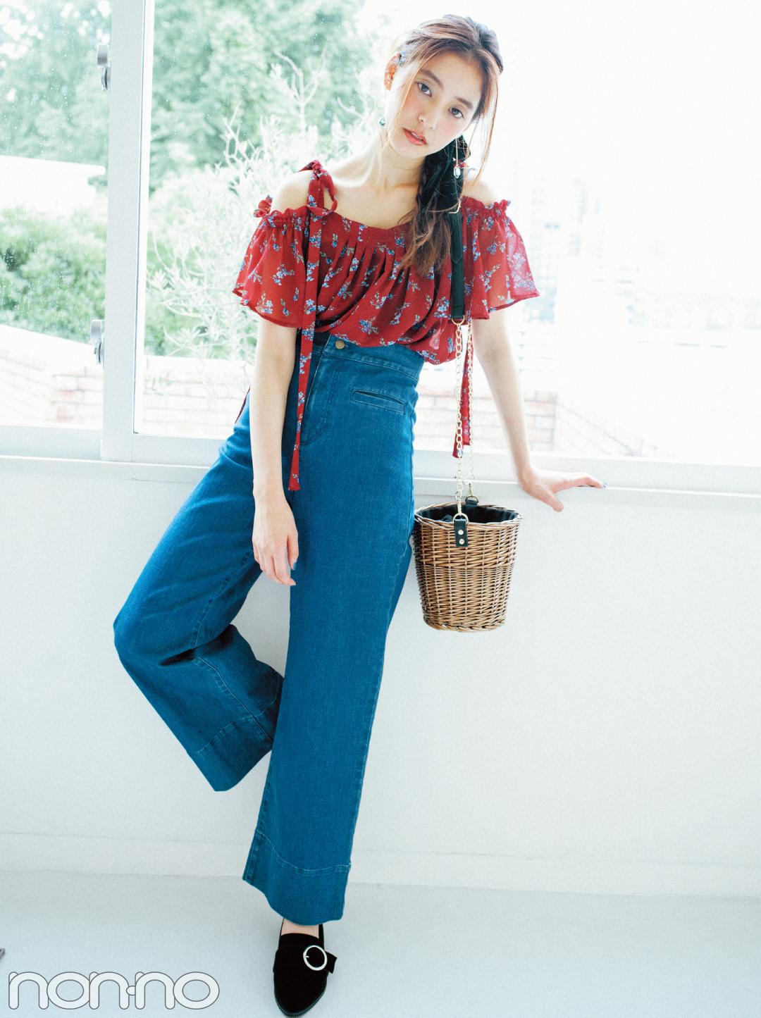 新木優子が着る♡ 秋の大人っぽ花柄、迷ってる人のための3選_1_4