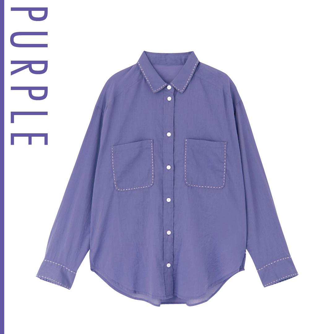 新木優子の夏色コーデ、新鮮パープルを今っぽ&きれいめに着る!_1_3-2