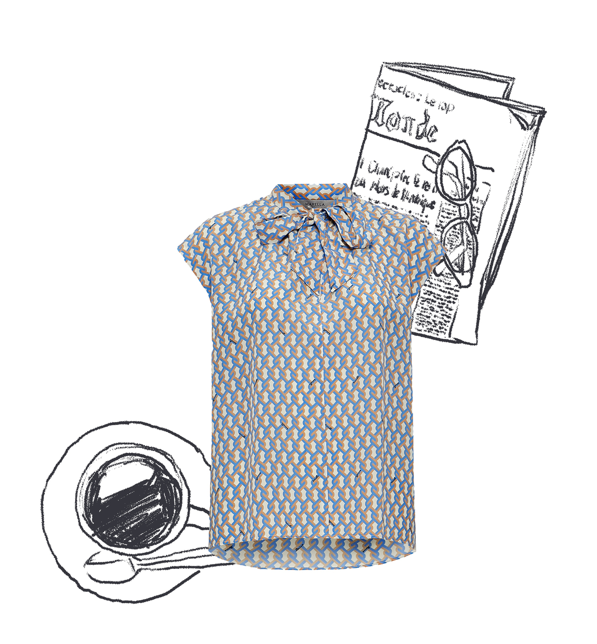 ファッション マレーラのノースリーブブラウス