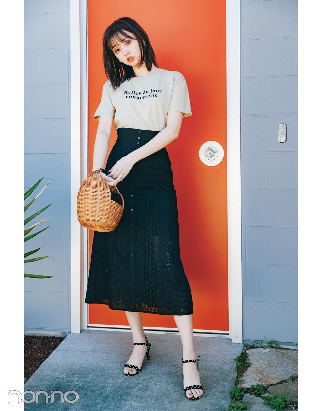 【おうち時間のおしゃれ】Tシャツ_コーデ_女っぽで検索!_1_4