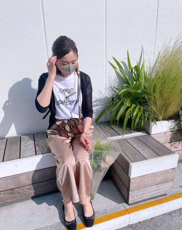 週末のTシャツコーデとUNIQLO FLOWER_1_3