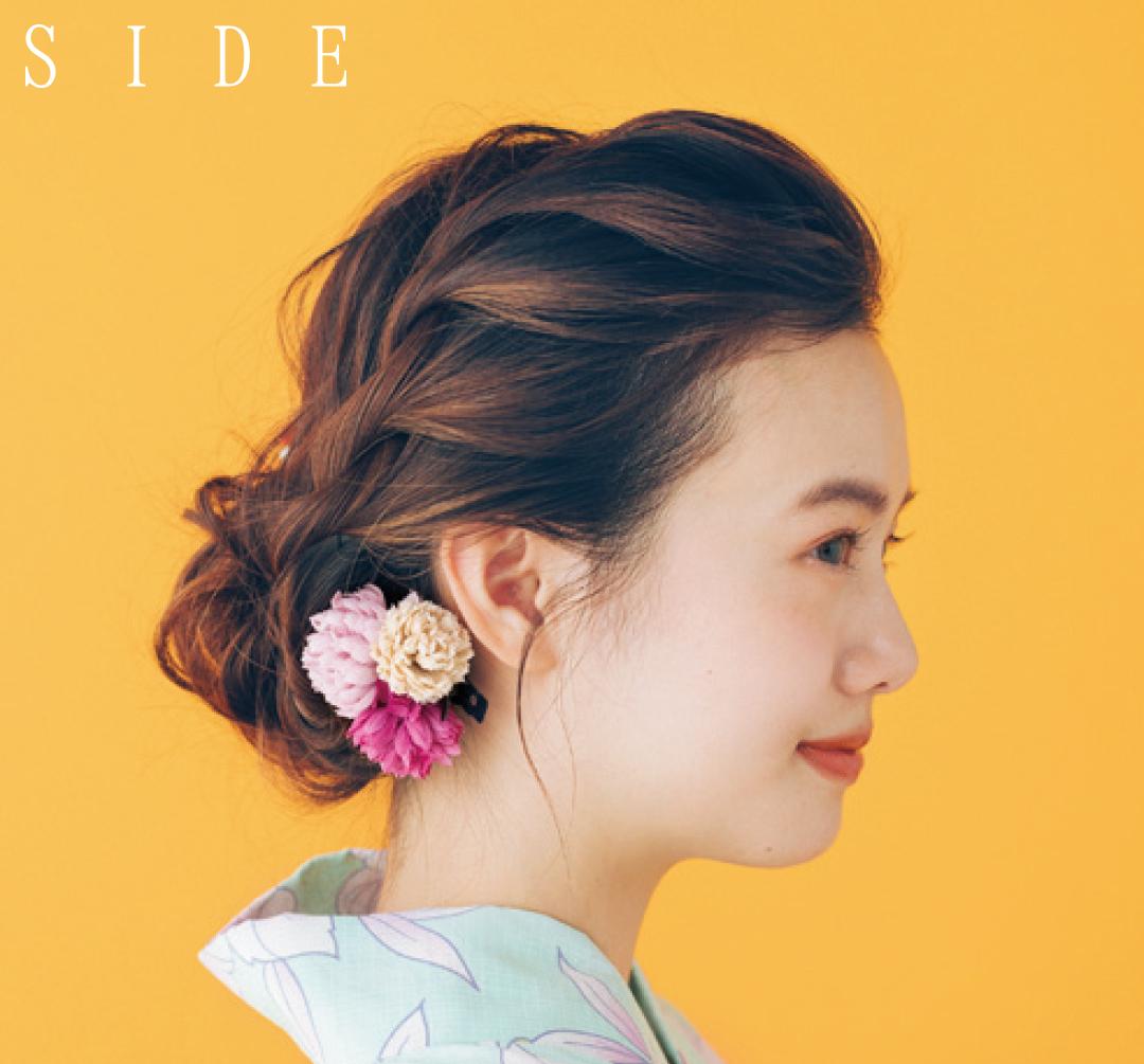 ロングのヘアアレンジ、ゆかた映えする横顔美人のねじりヘアはコチラ★_1_3-1