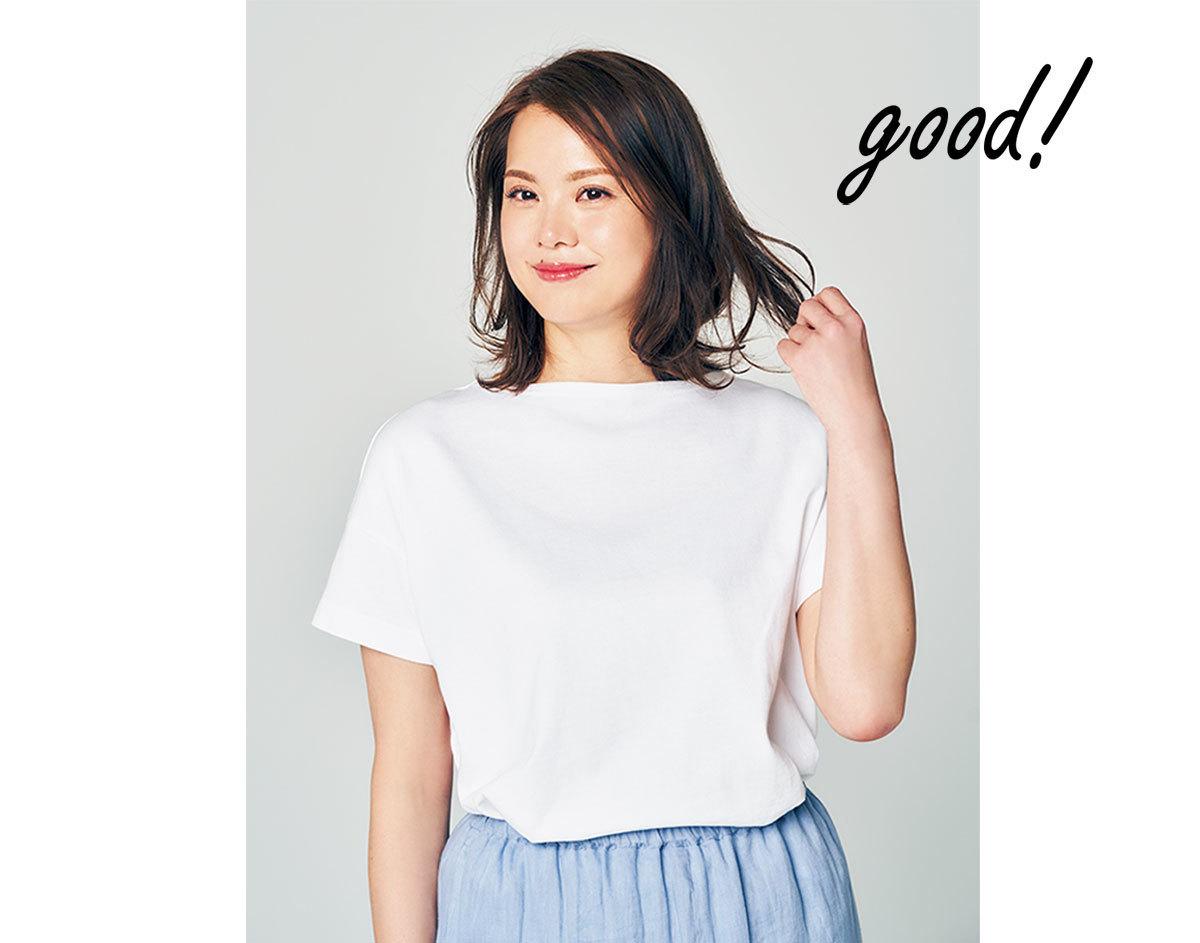 大柄さんの白Tシャツ3
