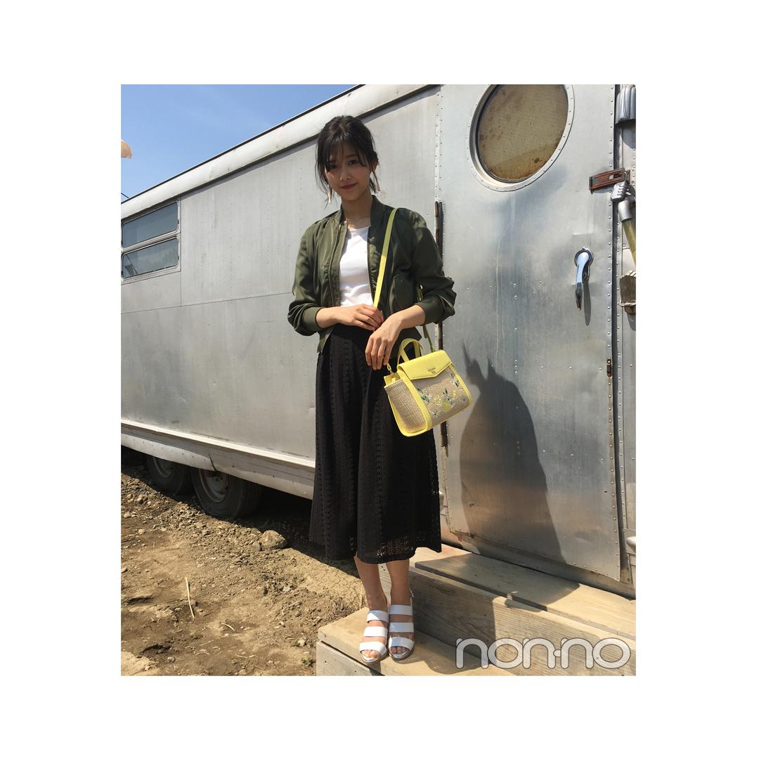 毎日コーデ★渡邉理佐の夏バッグは刺しゅう&カゴの旬コンビ_1_1