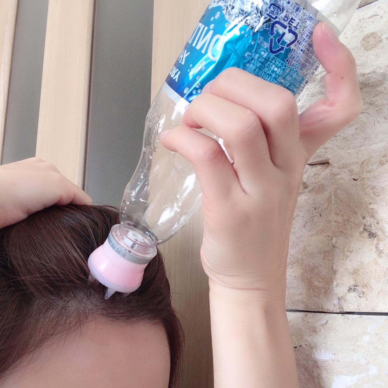 炭酸水マッサージャー使用例