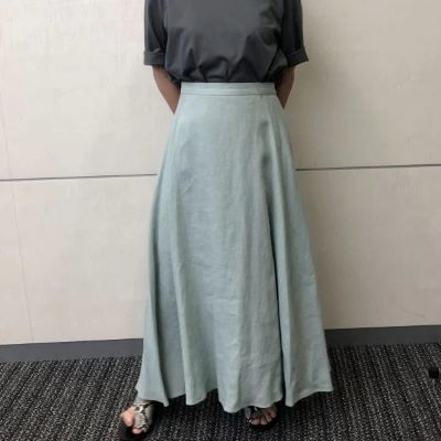 E by eclat リネンマキシスカート ¥18,700