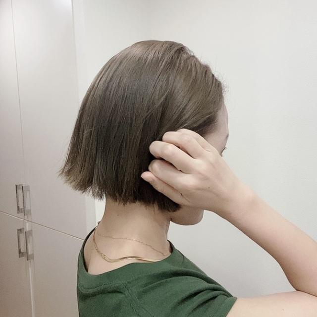 ヘアメンテ☆アッシュグリーンの肌補正効果_1_1