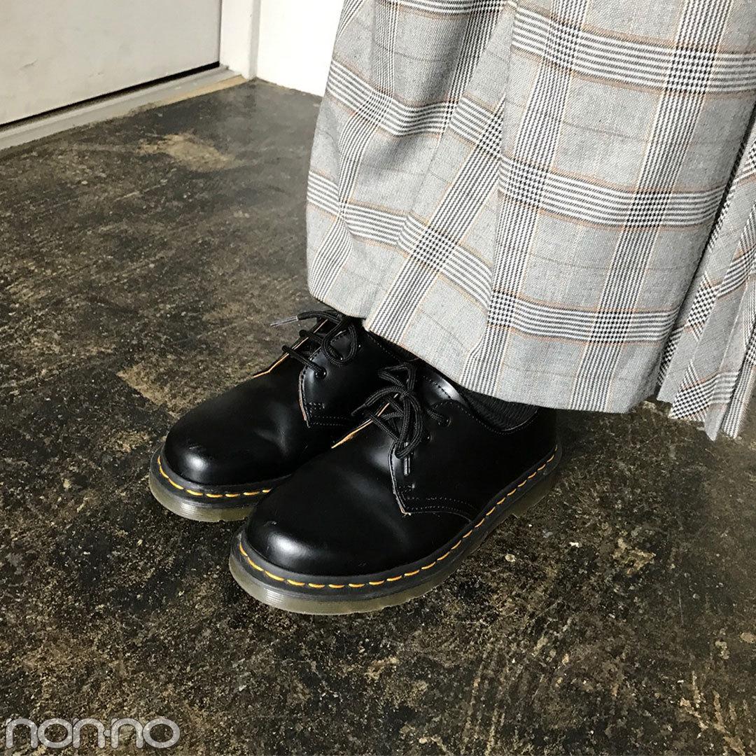 渡邉理佐はリリーブラウンのチェックパンツで今っぽコーデ!【モデルの私服】_1_2-3