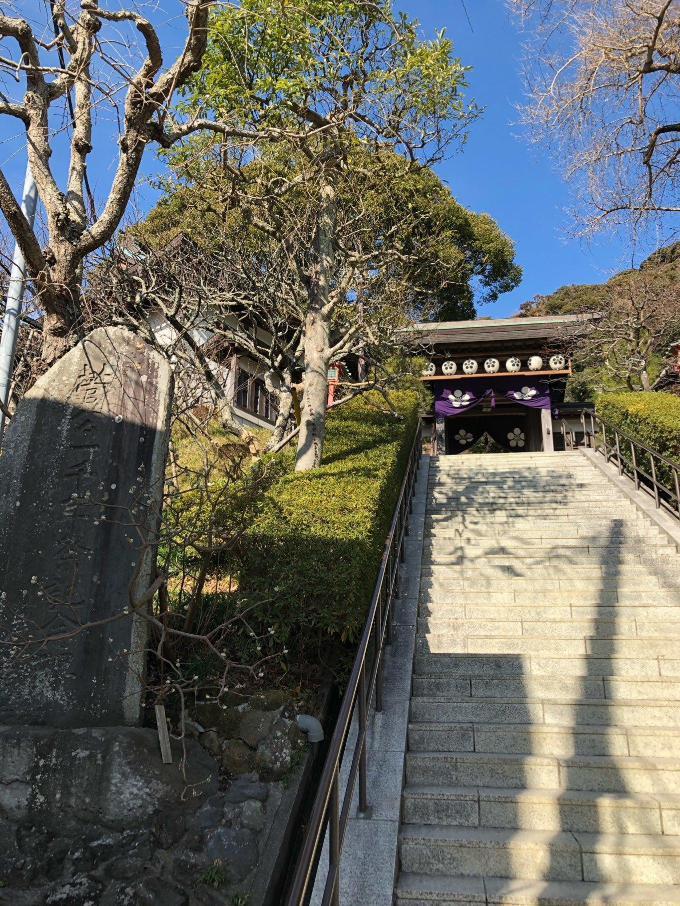 荏柄天神社前の階段