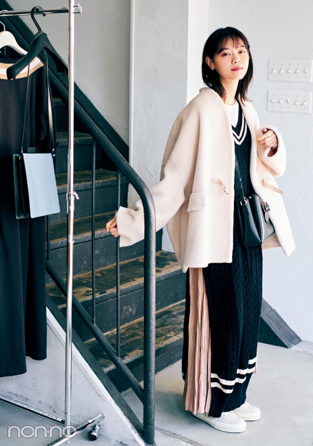 西野七瀬の冬私服♡ シックな冬配色でおしゃれのお手本!_1_4