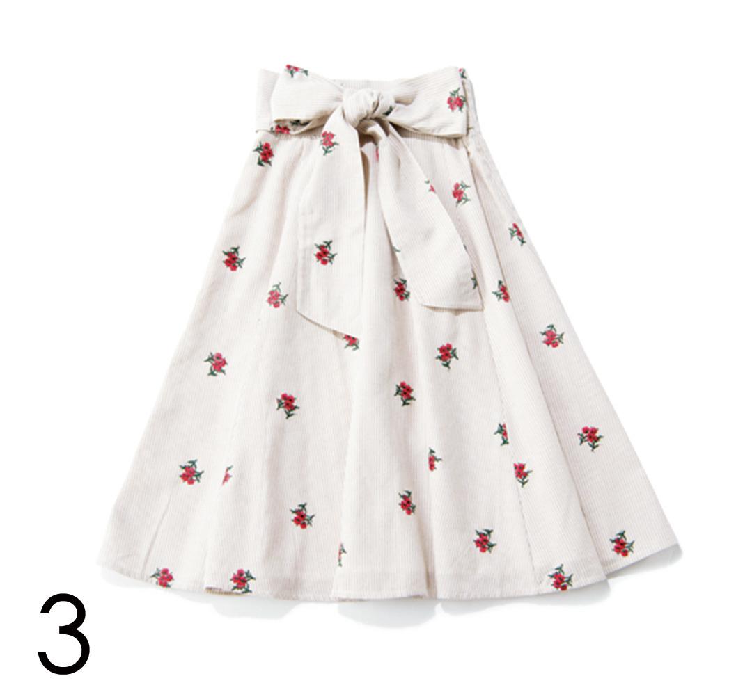 差がつく! 花柄ワンピ&スカートも「ちょこっと赤」♡ _1_4-3