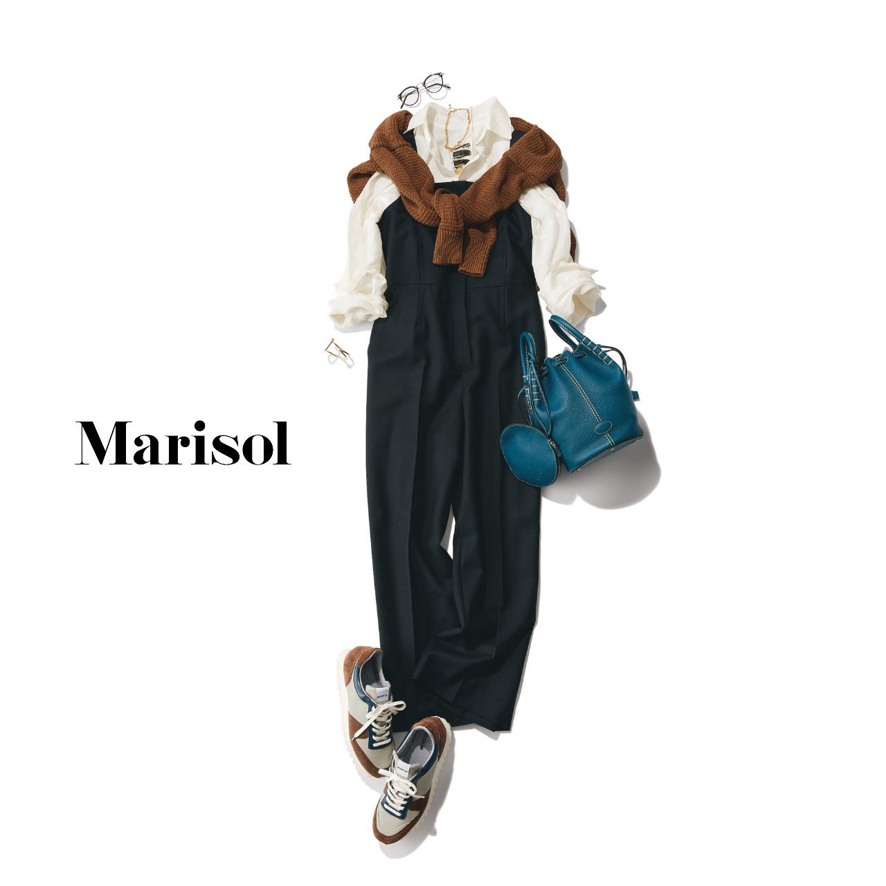 40代ファッション  シャツ×パンツ×スニーカーコーデ