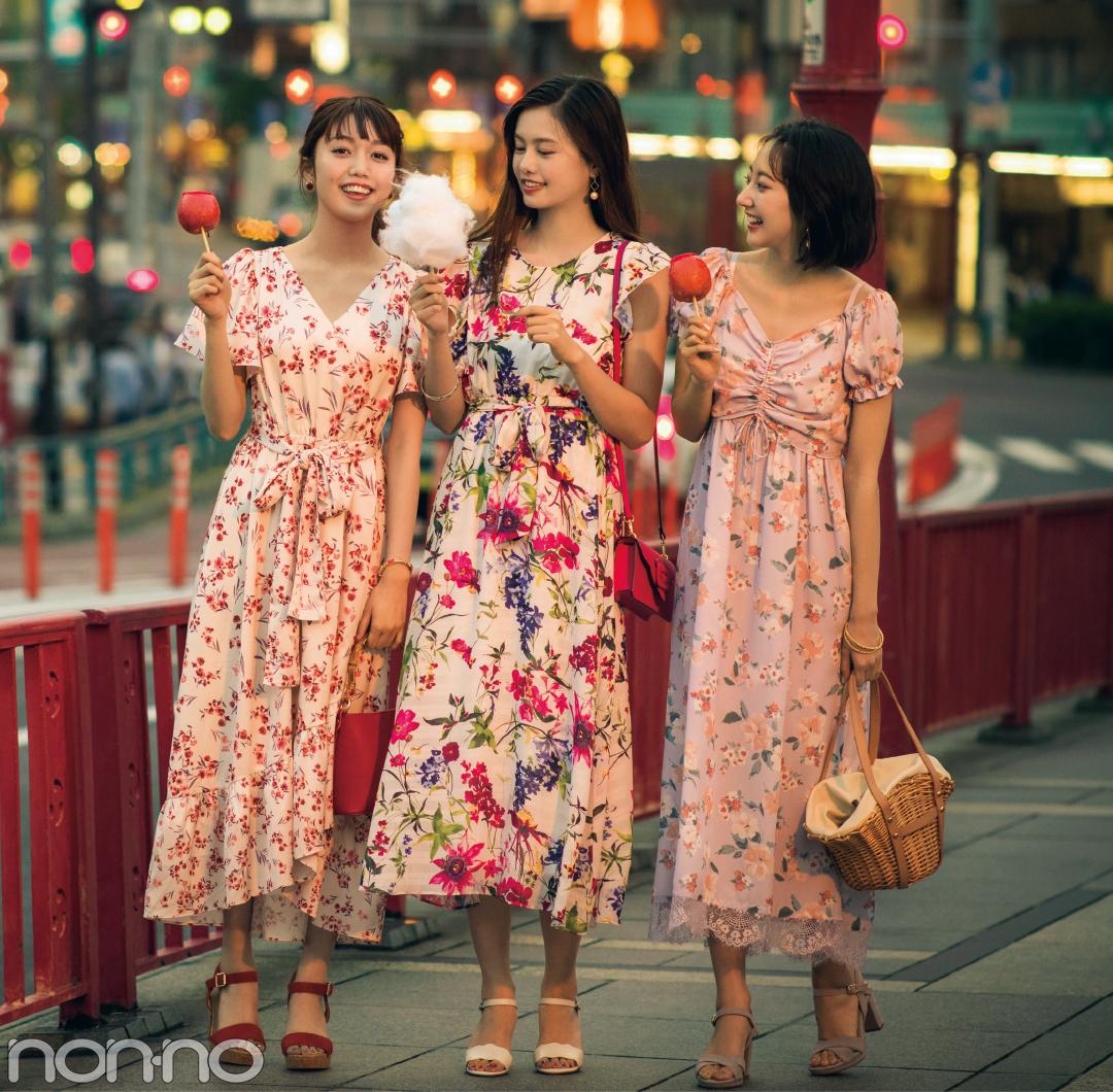 お祭りに映える花柄ロングワンピ&夜カフェに映える黒系ワンピ6選!_1_2