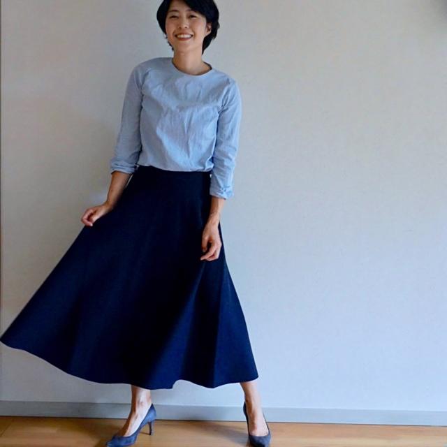 BLUEBIRD BOULEVARDのスカートで秋スタイル始め_1_1-4