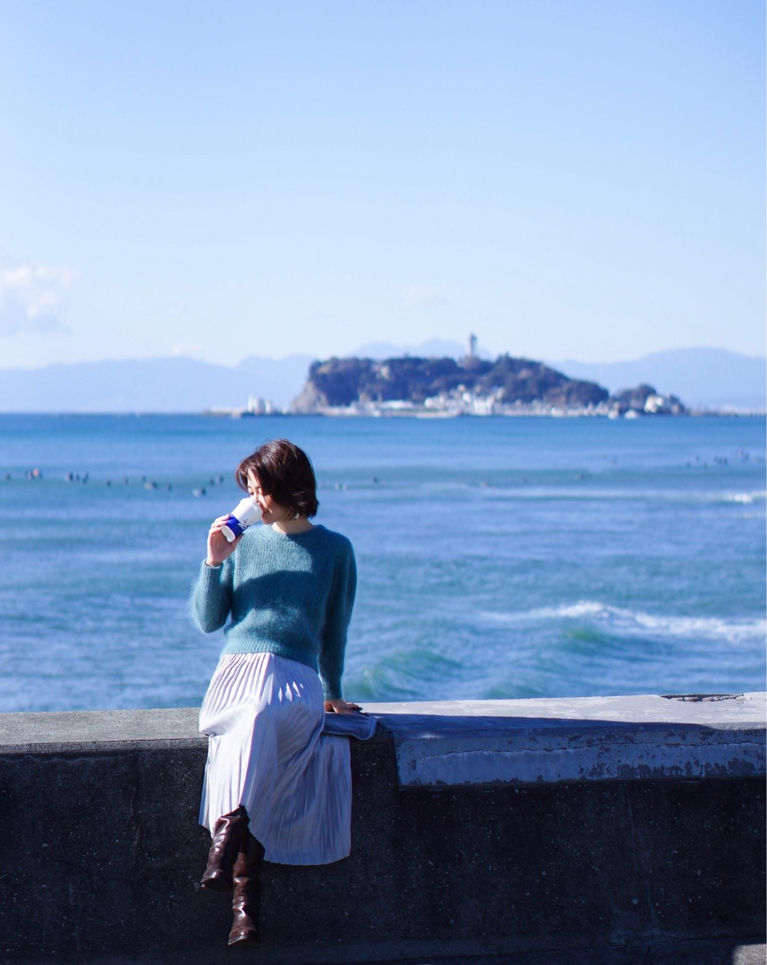 martiniqueの海色モヘアとラメスカート&ネイル_1_3