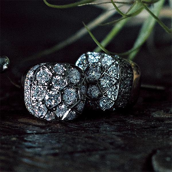 印象的な横顔を彩る。ダイヤモンドが輝くブランドのアイコンピアス_1_1-1