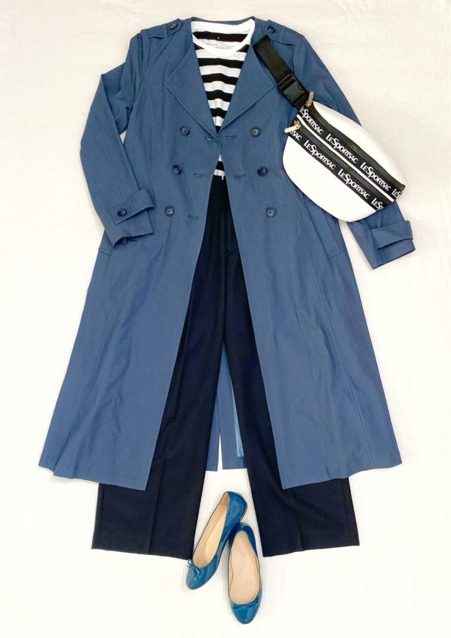 秋のトレンチコートはデニム風カラーで、一味違ったお洒落を♡_1_3
