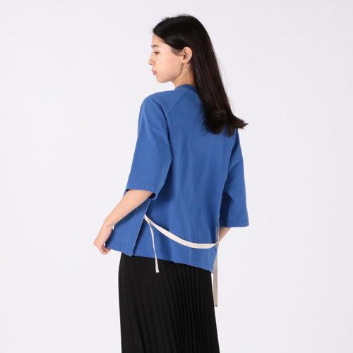 SCYE (サイ) のブルーのオーガニックコットンジャージラグランTシャツ