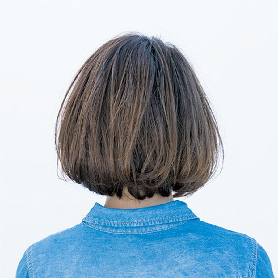 後ろから見た人気ボブヘアスタイル3位の髪型