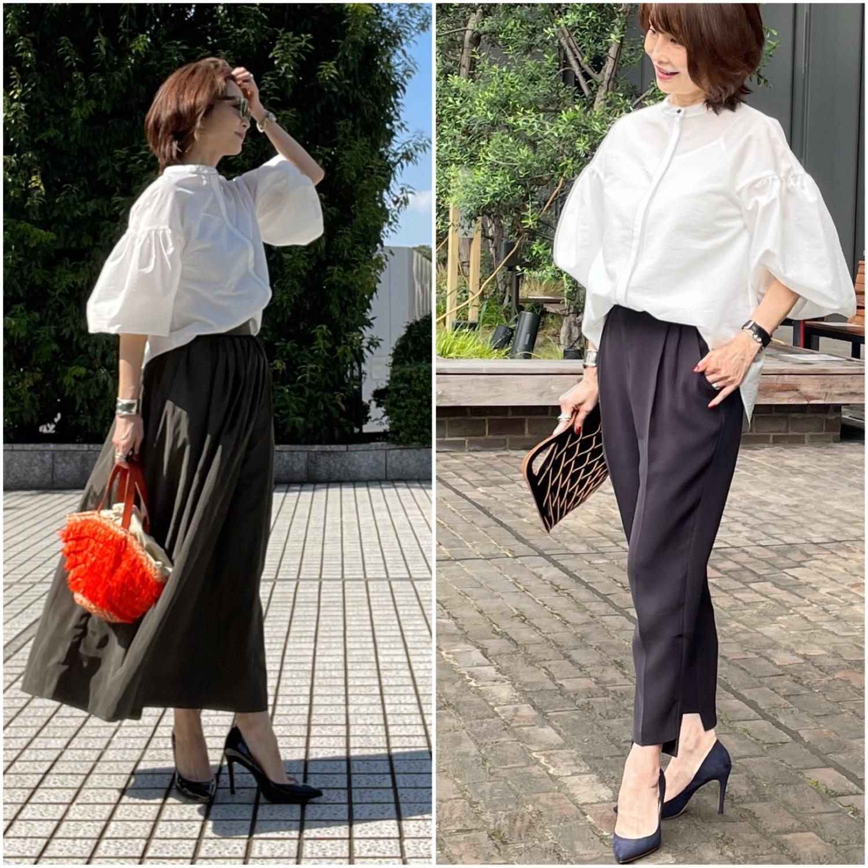 白シャツコーデ♡パンツとスカート _1_1