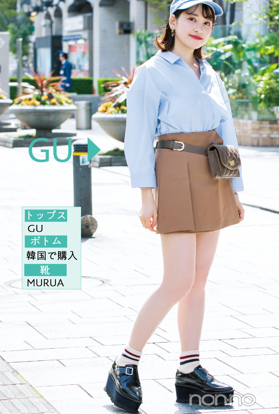 GUの新作トレンド服、ノンノ専属読モはこう着ます。【カワイイ選抜】_1_2