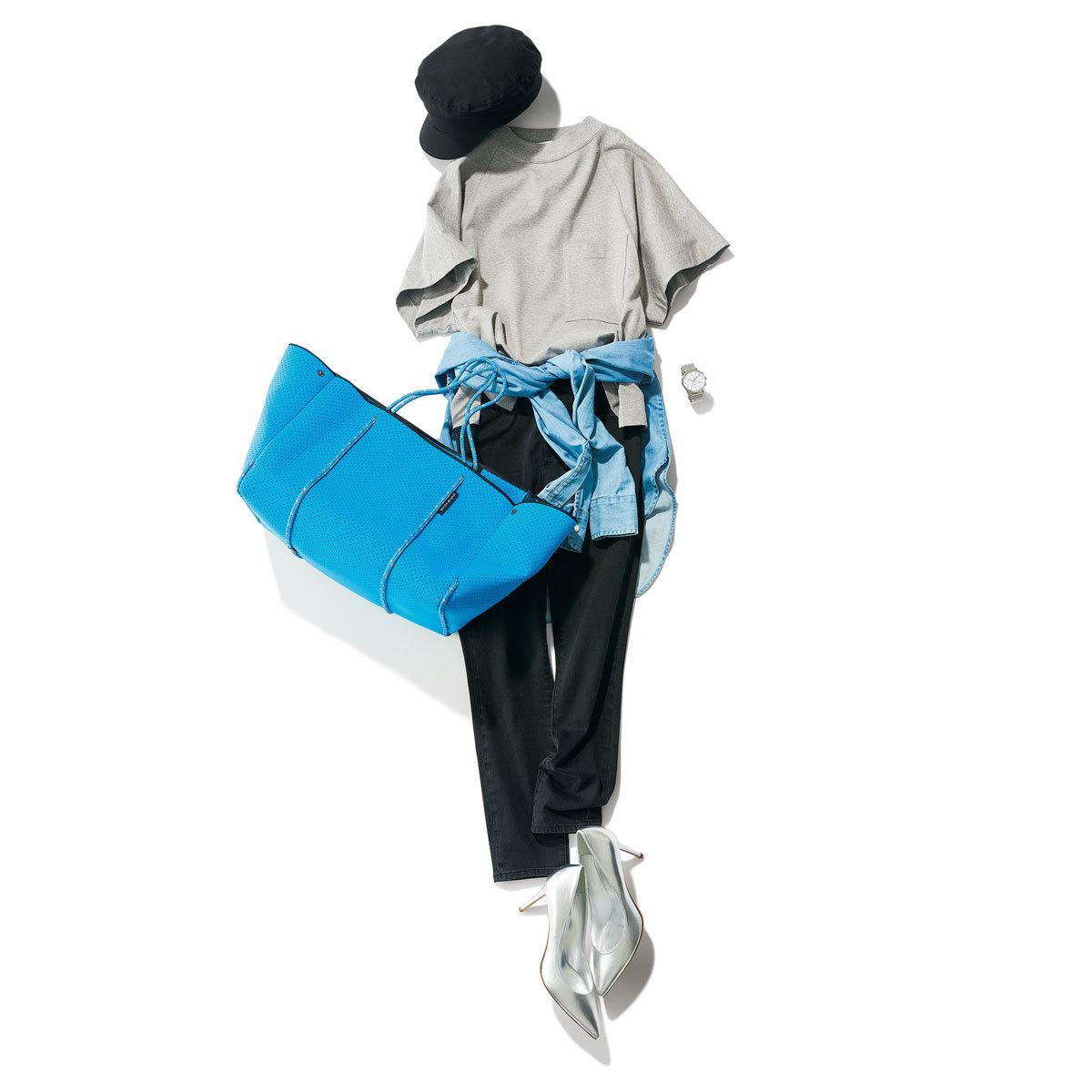 ステート オブ エスケープのバッグを使ったシャツコーデ