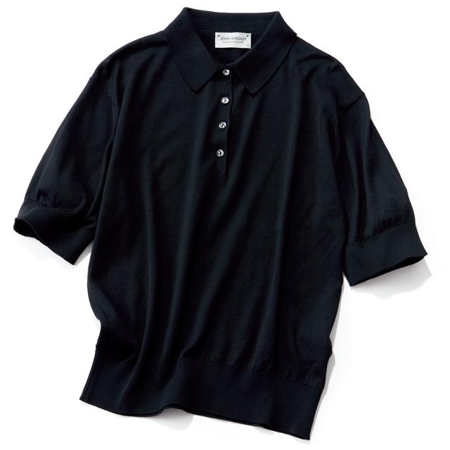 JOHN SMEDLEYのニットポロシャツ