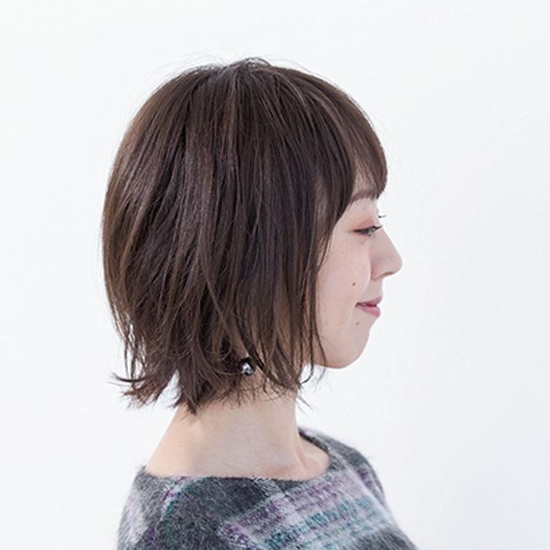 横から見た人気ボブヘアスタイル4位の髪型