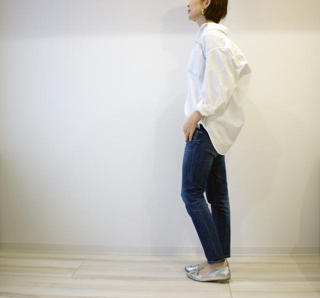 UNIQLOのデニムオーバーシャツで40代のエフォートレスコーデ_1_6