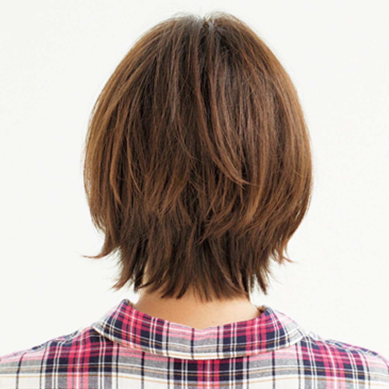 前髪ぱっくり問題はこれで解決! 小顔効果も抜群の印象ショート【40代のショートヘア】_1_3