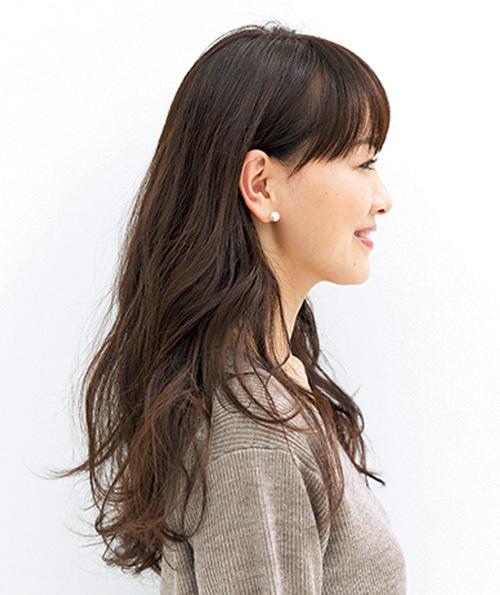スタイリング前の人気ロングヘアスタイル3位の髪型