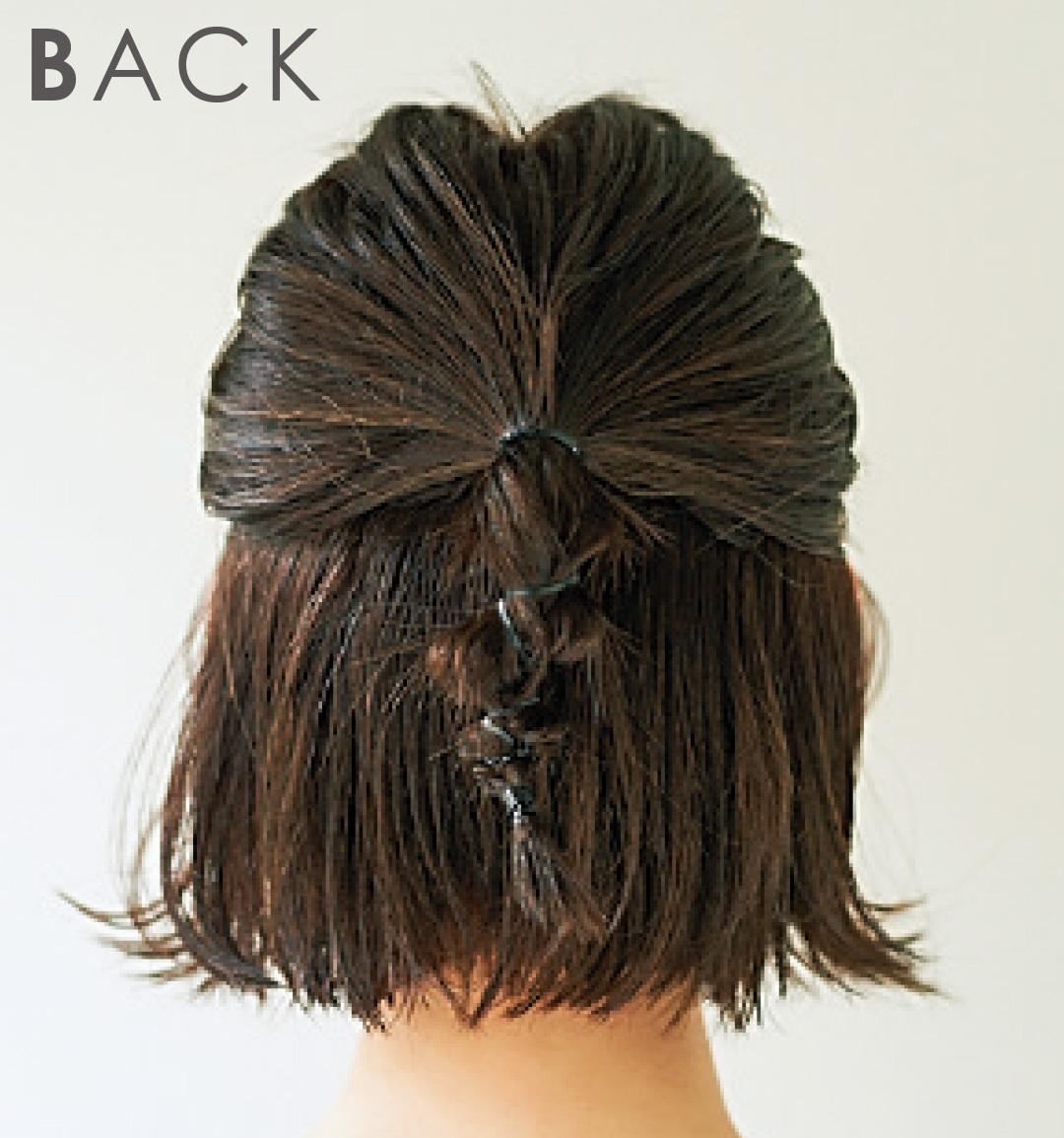 ボブのハーフアップヘアアレンジ♡ 髪が硬い&太い&多い人も一気にこなれる!_1_5-2